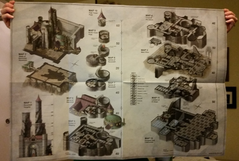 dd curse of strahd fold out map Castle Ravenloft